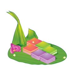 Thai dessert sweet layer vector