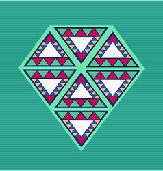 Unusual geometric composition vector image vector image