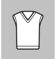 Vest on background vector image