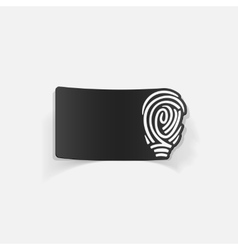 Realistic design element fingerprint vector