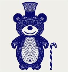 Creative teddy bear vector image