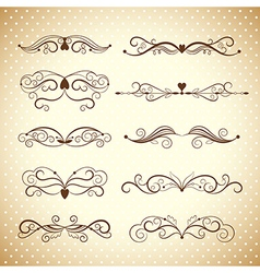 Collection dividers and ornate headpieces vector
