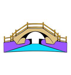 Bridge icon cartoon vector