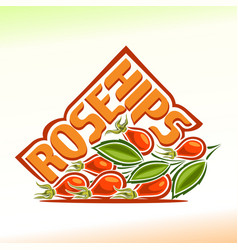 Logo for rose hips vector
