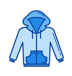 Hoodie line icon vector
