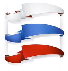 Color ribbon banners vector