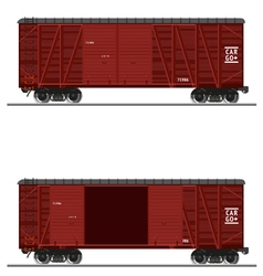 Wooden train vector