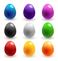 Colorful glossy easter eggs vector