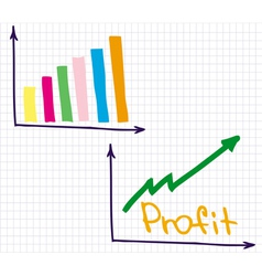 Profit revenue chart vector