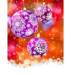Merry christmas card EPS 8 vector image