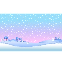 Winter landscape in day vector