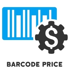 Barcode price setup icon with caption vector