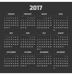 Modern style calendar for 2017 vector