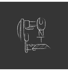 Industrial automated robot Drawn in chalk icon vector image