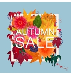 Autumn sale discount banner modern style poster vector