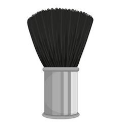 Black brush on white background vector
