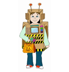 Boy in cosmo costume vector