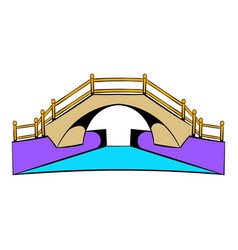 Bridge icon cartoon vector