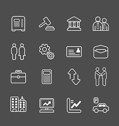Business and finance line icons set vector