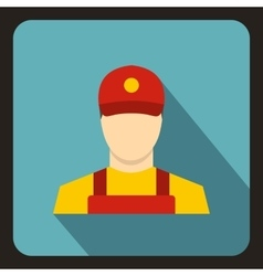 Courier icon flat style vector image