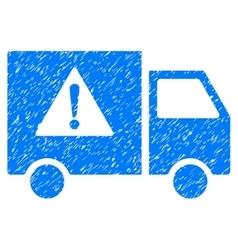 Danger transport truck grainy texture icon vector