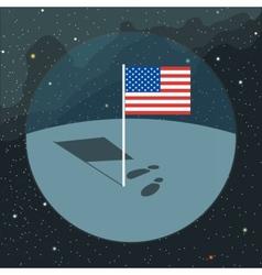 Digital with american usa flag icon vector image