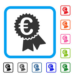euro featured price tag framed icon vector image