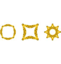 Gold branch frames vector