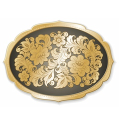 golden tray russian style vector image vector image