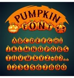 Halloween Pumpkin Font vector image vector image