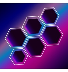 Hexagon abstract composition background vector image