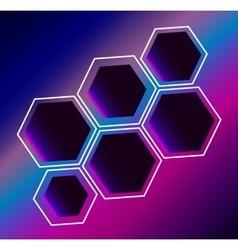 Hexagon abstract composition background vector