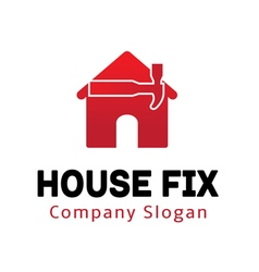 House Fix Design vector image vector image