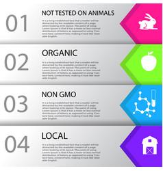 Information poster non gmo vector