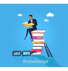 Knowledge Design Flat Concept Style vector image vector image