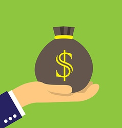 Money sack vector image vector image