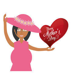Mothers day card mom pregnancy celebration vector