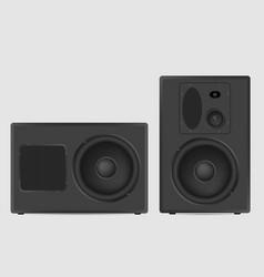 Musical speaker modern acoustic on white vector