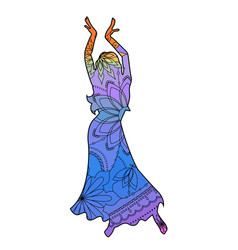 oriental dancer with transition colors vector image vector image