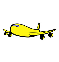 Passenger airliner icon icon cartoon vector