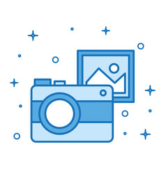 Photo camera picture device internet technology vector