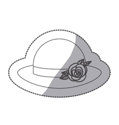 Sticker contour lace hat roses bowler retro design vector