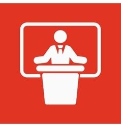 The speech icon speak and broadcaster orator vector