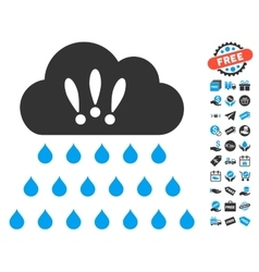 Thunderstorm Rain Cloud Icon With Free Bonus vector image vector image