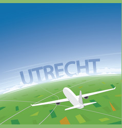 Utrecht flight destination vector
