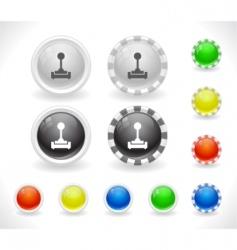 website GUI buttons vector image
