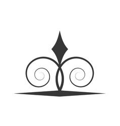 Swirl decorate ornate style vector