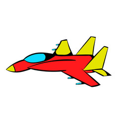 Fighter aircraft icon icon cartoon vector
