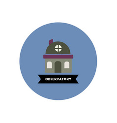 stylish icon in color circle building observatory vector image