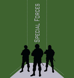 Booklet special forces soldiers vector